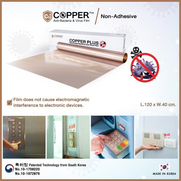 COPPERplus Film on Surfaces
