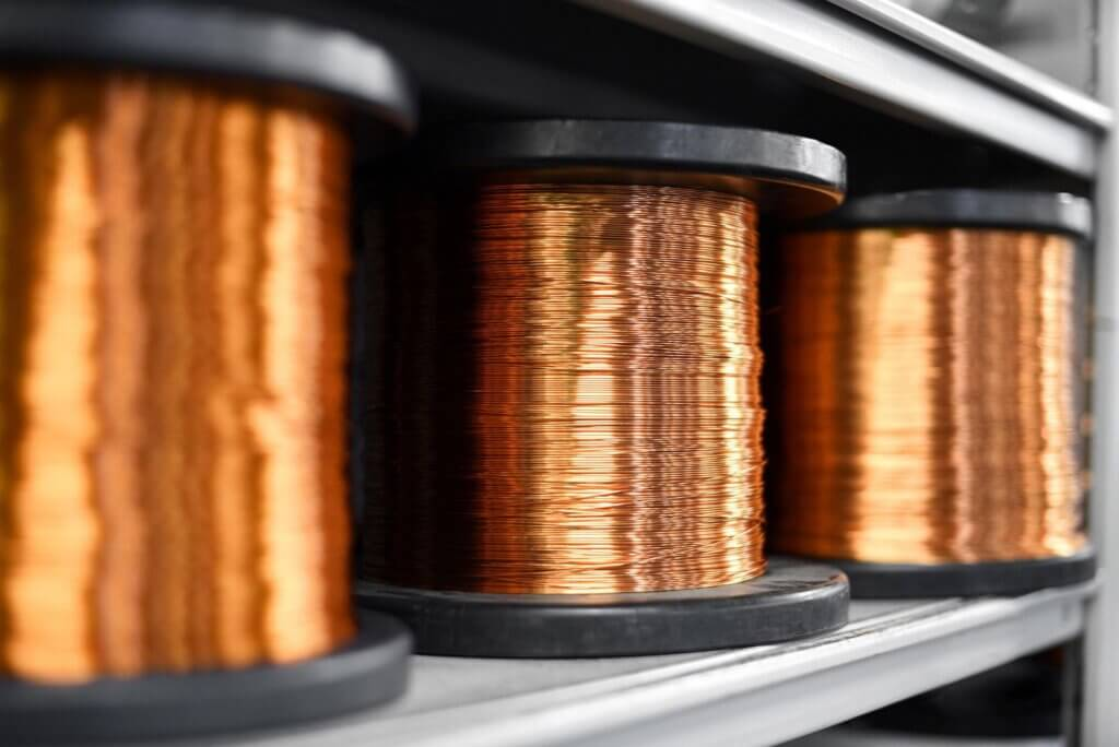 Copper is recommended to use in shopping centers